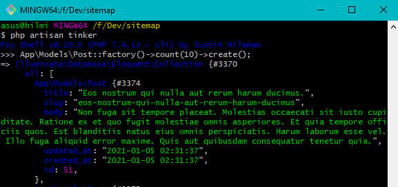Laravel dynamic sitemap