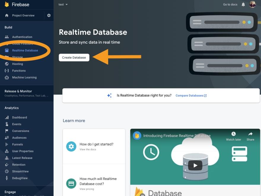 Firebase realtime database