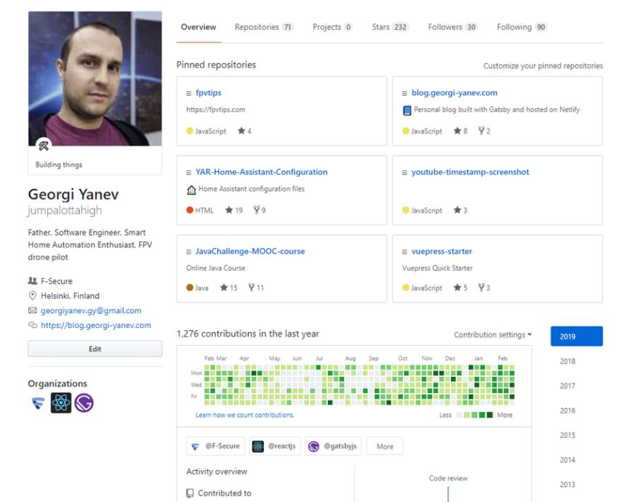 image of Georgi's GitHub profile