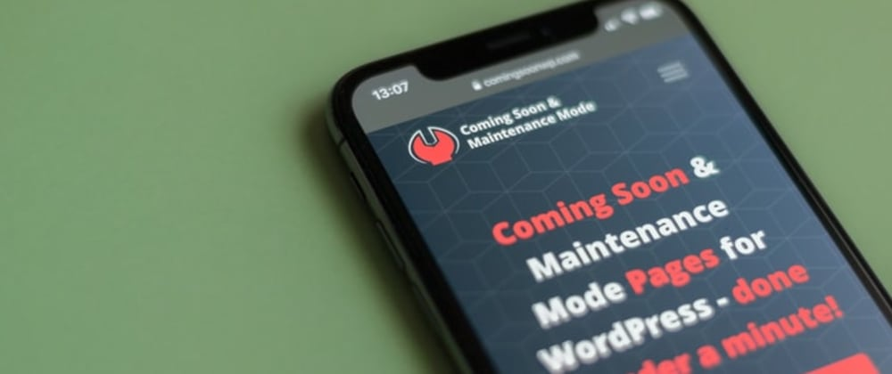 Cover image for WordPress Maintenance Mode