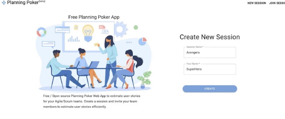Cover image for Free Planning Poker React App