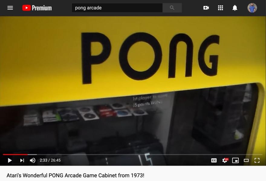 Winning Score Sticker on Arcade Cabinet