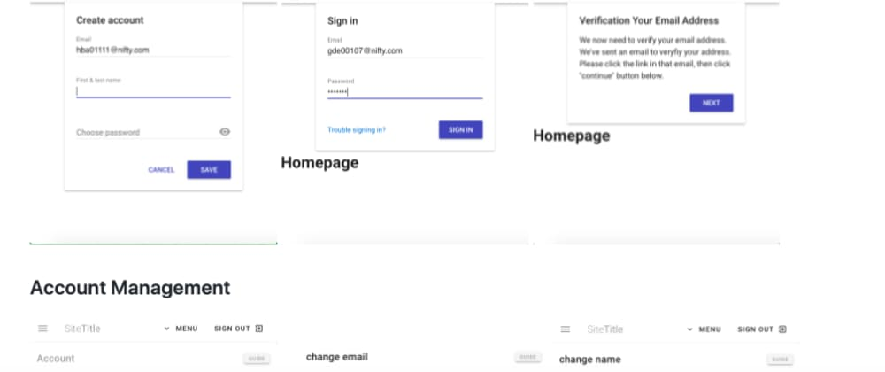 Cover image for The out-of-the-box Sign-in / Log-in package of Vue and firebase auth, with User management pages is available