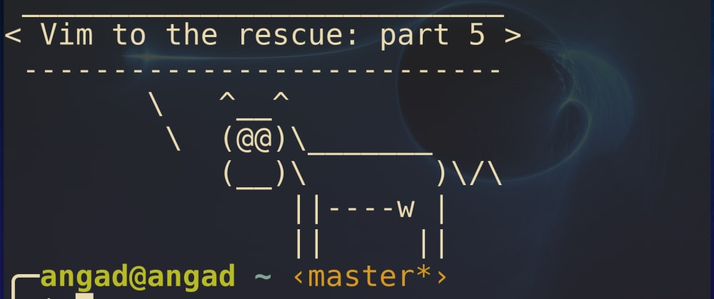 Vim to the rescue: Sessions