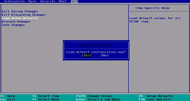 Clear BIOS settings