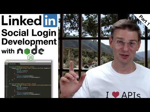 Video tutorial on social login with Linkedin API and node.js