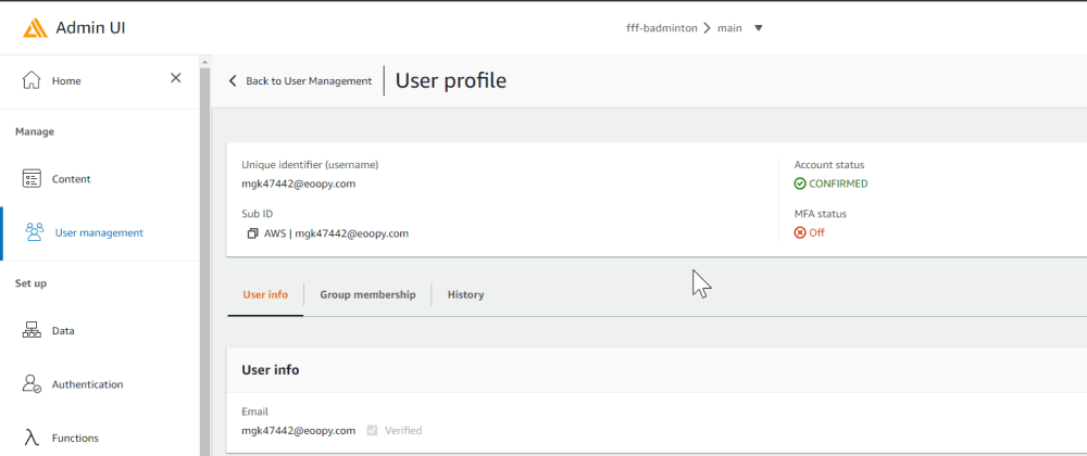 Cover image for User management with the AWS Amplify Admin UI instead as self sign up