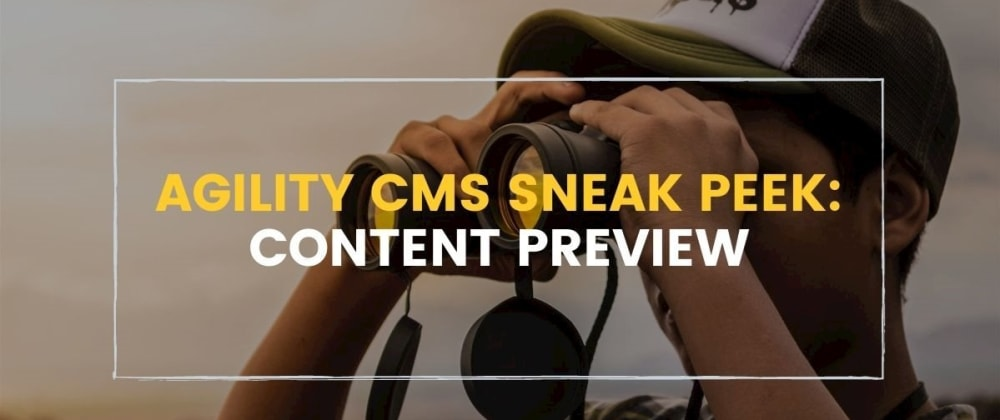 Cover image for Previewing Content in Agility CMS