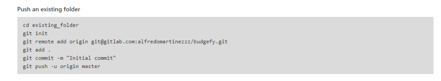 Upload our code to GitLab
