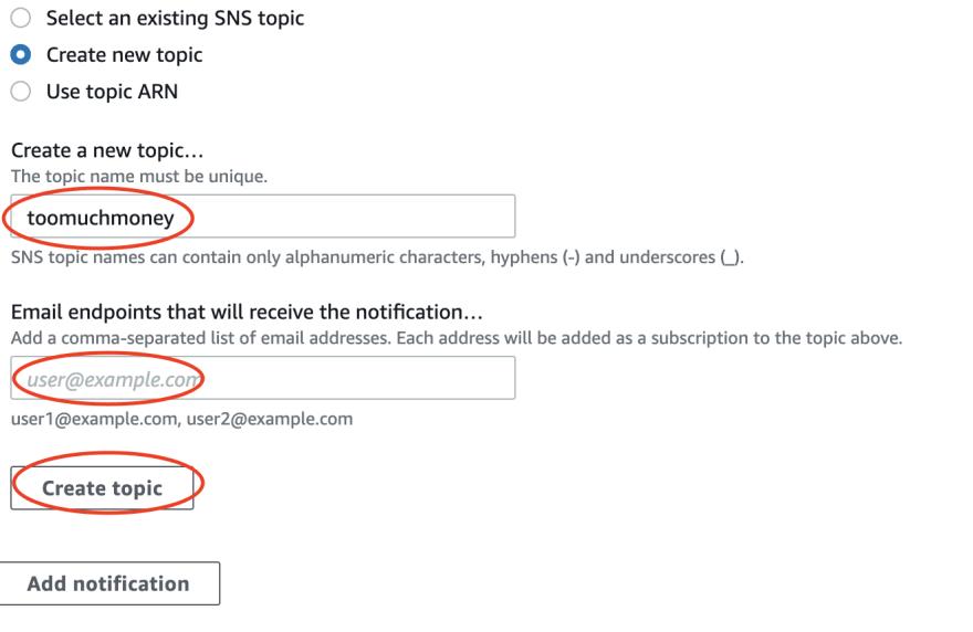 Choosing SNS Topic name