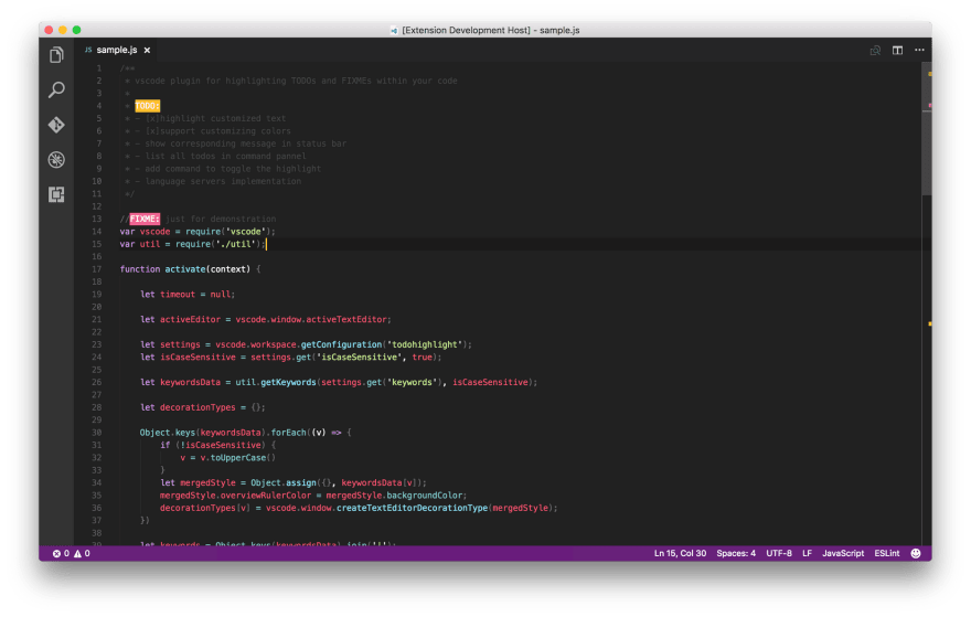 a screenshot of TODO Highlight