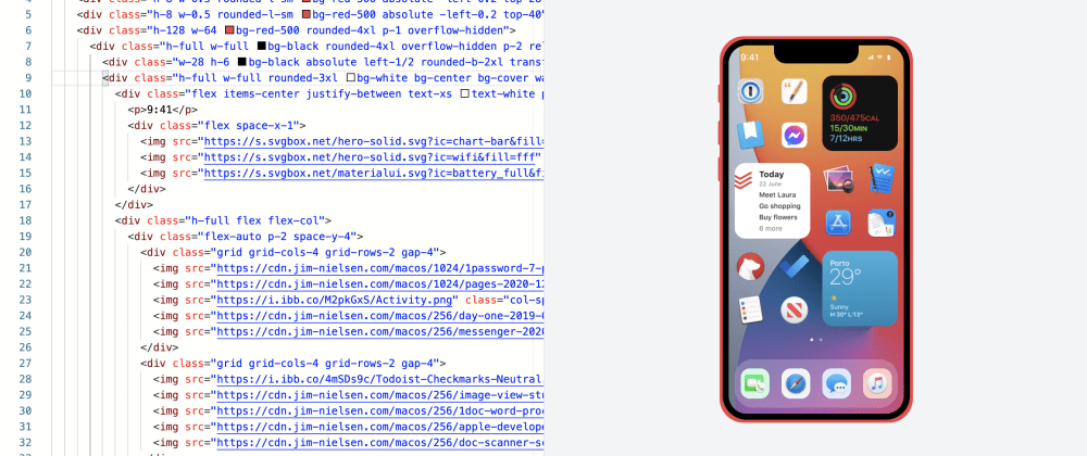 Cover image for Got bored and made iPhone 12 with Tailwindcss