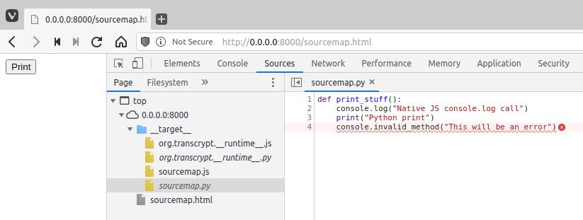 Sourcemap Python Code Screenshot