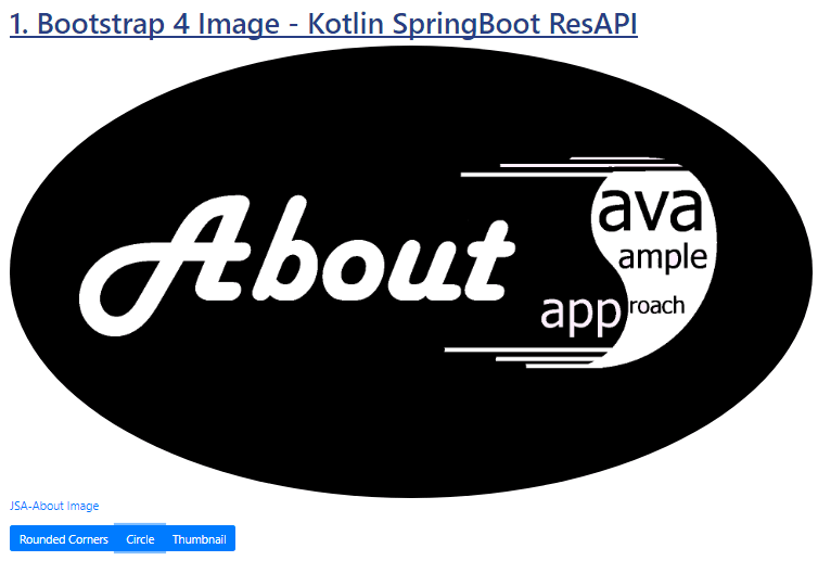 Kotlin SpringBoot - Bootstrap 4 Image - Jquery - circle shape