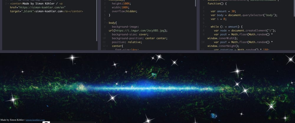 Cover image for Random Stars Animation with JavaScript and CSS