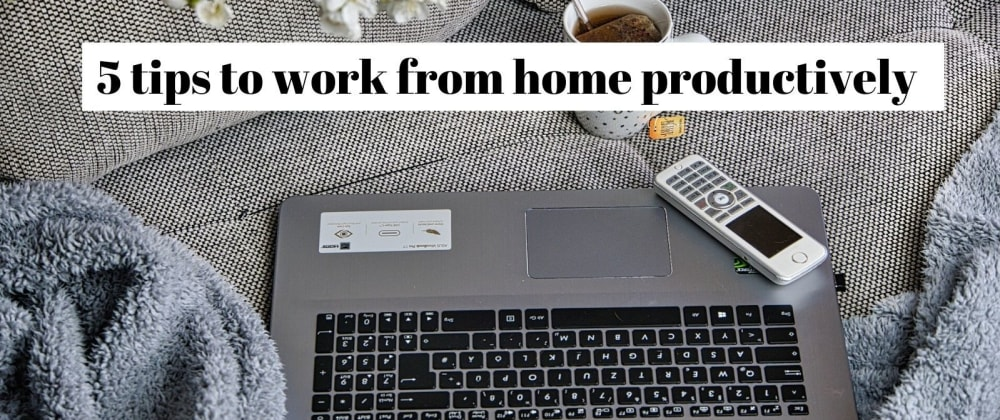 Cover image for 5 tips to work from home productively