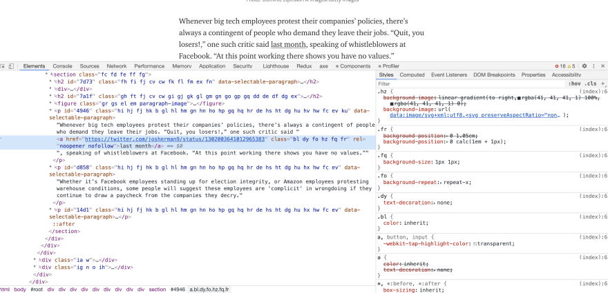 In Chrome on desktop mac, with no font size overrides active, the text underlines are present and in their proper places