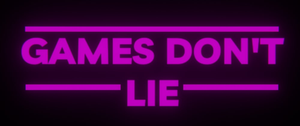Cover image for Games Don't Lie
