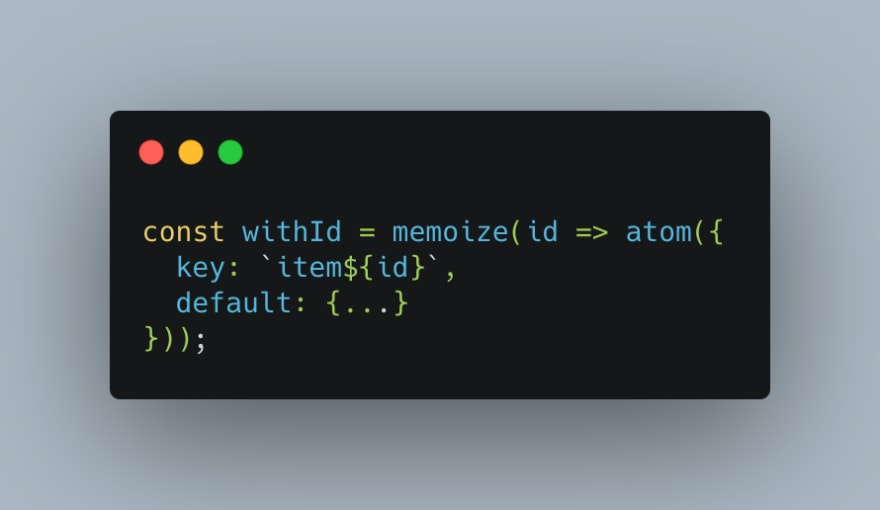 Atom memoized