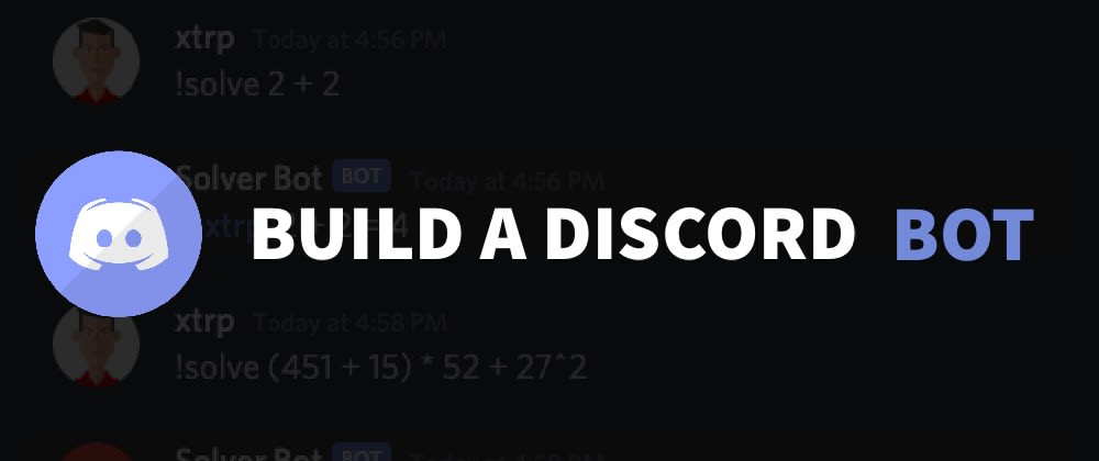 Cover image for Build and Deploy a Discord Bot with Node and Discord.js in 5 minutes