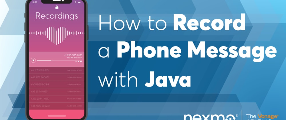 Cover image for Record a Phone Message with Java