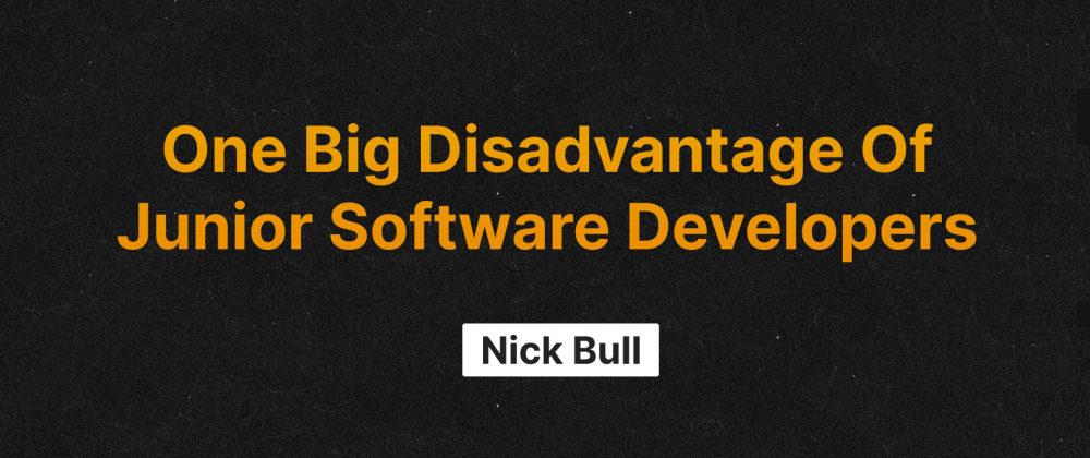 Cover image for One Big Disadvantage Of Junior Software Developers