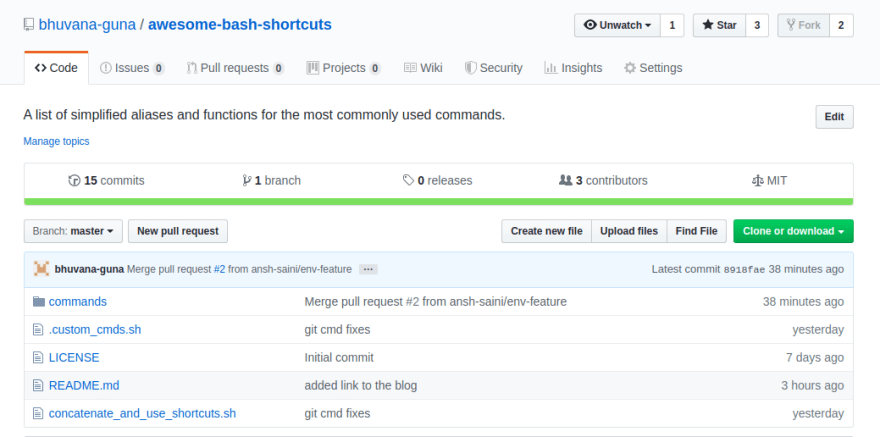 Awesome Bash command shortcuts repo