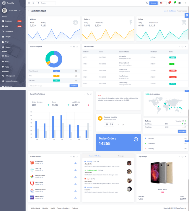 Reactify - React Redux Material BootStrap 4 Admin Template