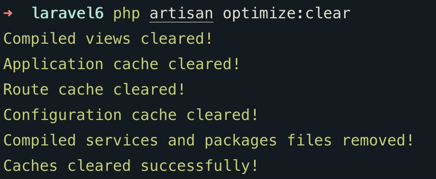 laravel-optimize-clear-command