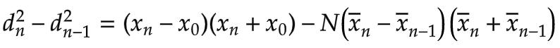 d^2_n - d^2_n-1