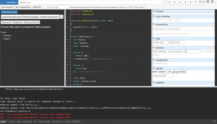 debugger in browser