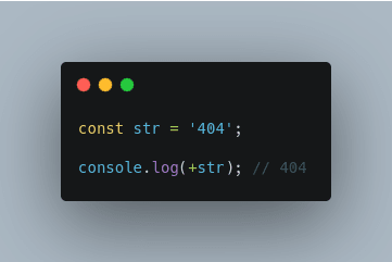 Convert a string to number