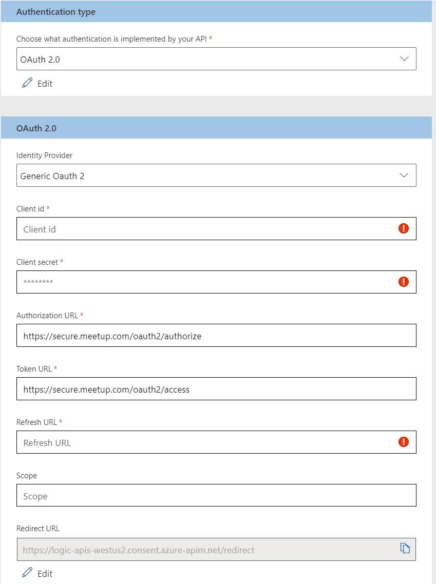 Custom Connector OAuth Configuration