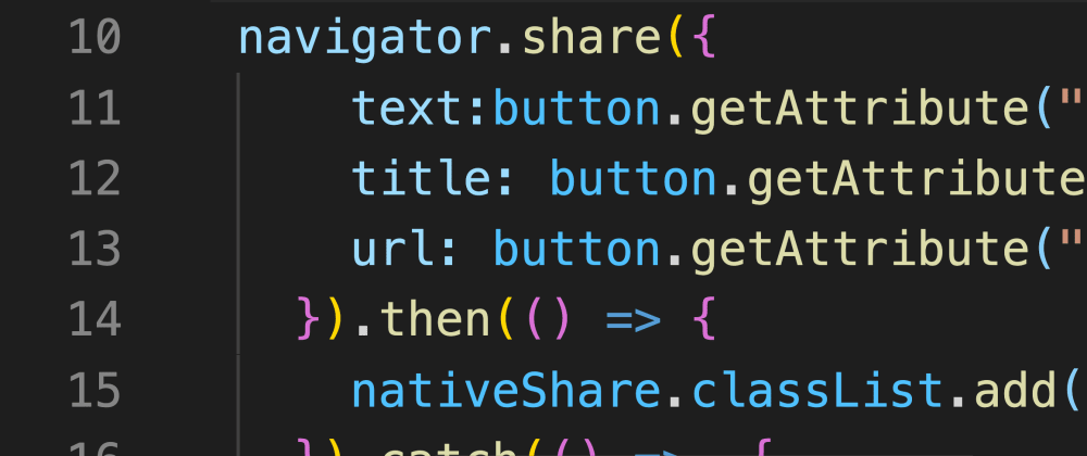 Cover image for Using the Web Share API and meta tags for native sharing
