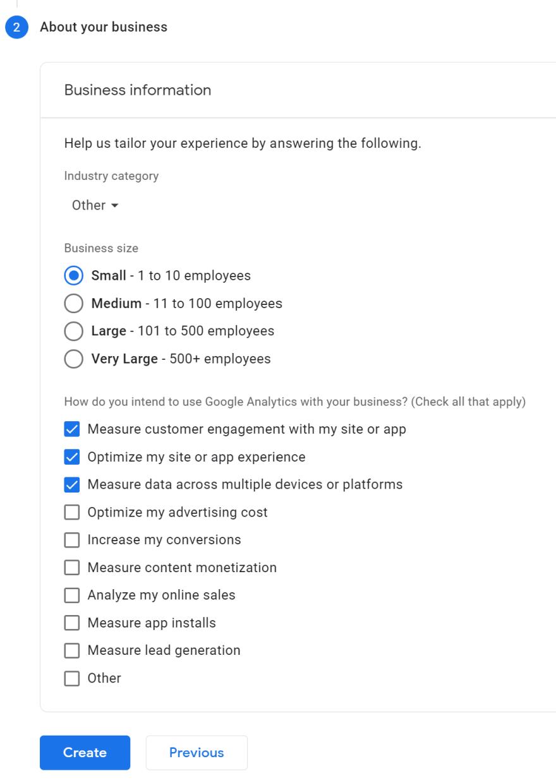 analytics options
