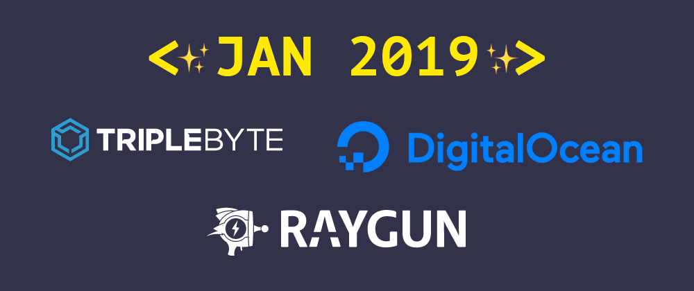 Cover image for Introducing our January 2019 sponsors