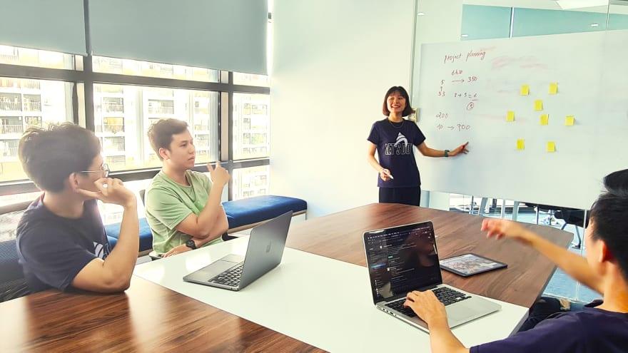 SaaS development team meeting