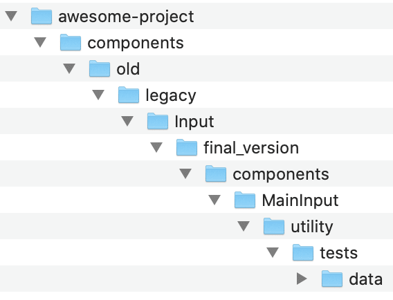 messy project structure