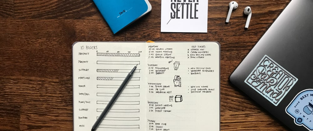 Cover image for Weekly Goals: Week of 7/28/19