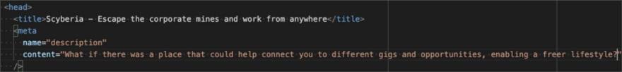 Screenshot of Scyberia metadata