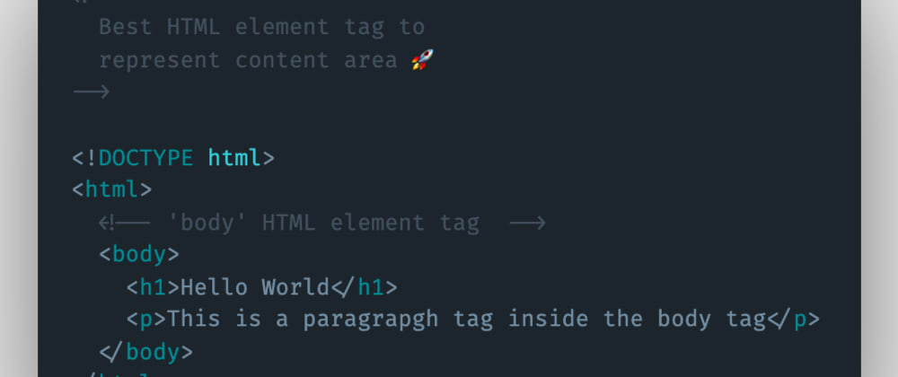 Cover image for Which HTML element tag can be used to represent and show content to the user?