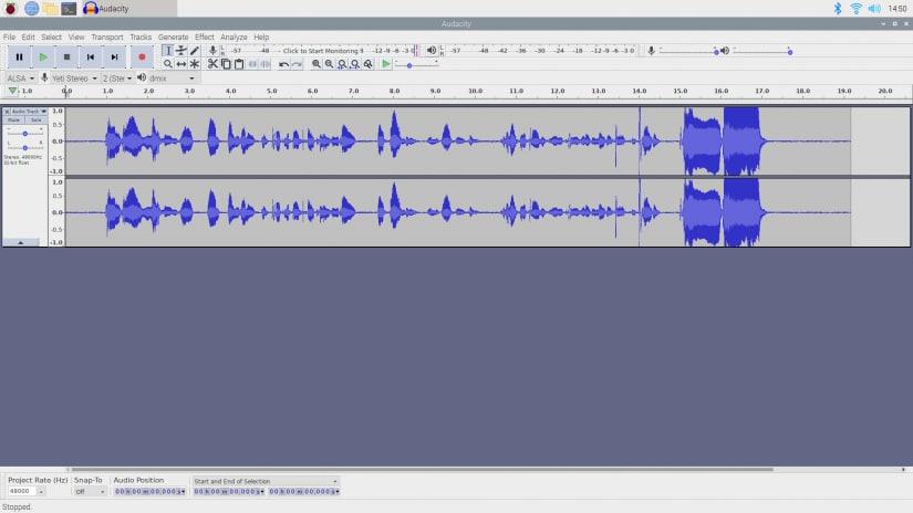 raspberry pi podcast recorder - audacity