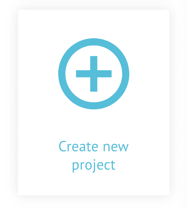 Create a new project card