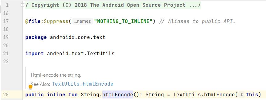 Source code of htmlEncode