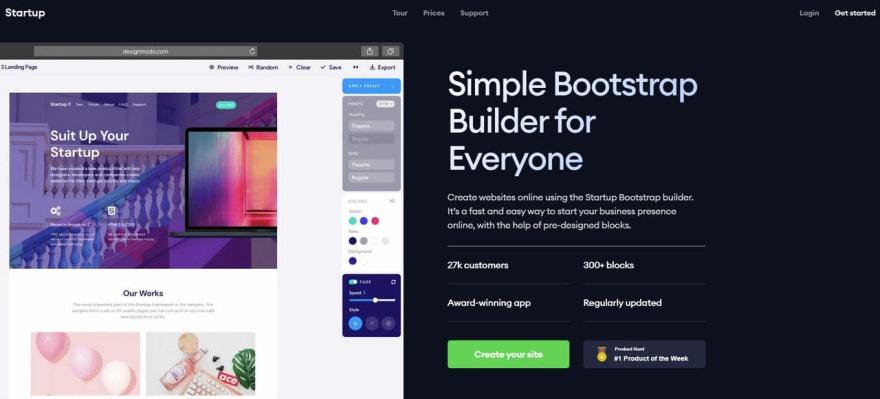 Startup - Bootstrap Builder