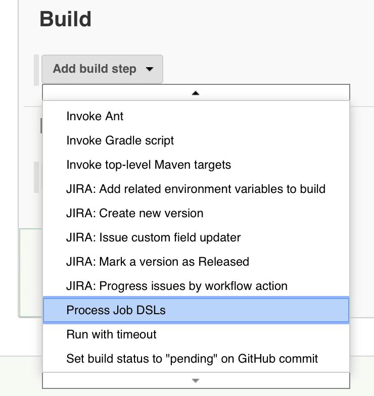 DSL plugin selection in Jenkins