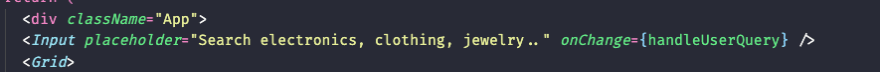 Add to onchange even handler to our component