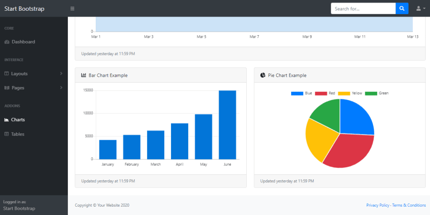 Bootstrap Template - SB Admin.