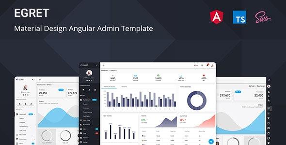 Egret Angular Admin Dashboard