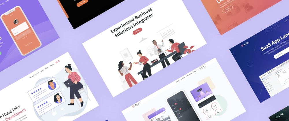 Cover image for 30+ HTML templates to take your landing page game to the next level.